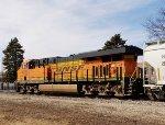 BNSF 4229 serves as a DPU on a east bound